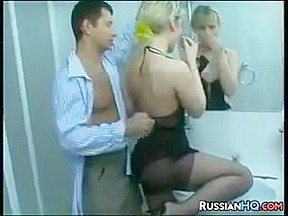 Russian Housewife Fucking In The Bathroom