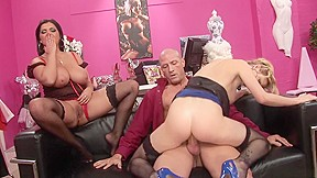 Fabulous pornstars and tarra white in horny lingerie...