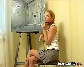 Sweet Russian Teen Does A Striptease