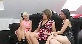 Group sex video featuring cougar...
