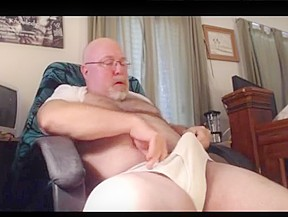 Hairy dad underwear wank...