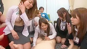 Fabulous Japanese chick Nozomi Osawa, Mami Orihara, Marina Sawajiri in Incredible Cunnilingus, Group Sex JAV movie