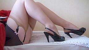 Mature legs and high heels