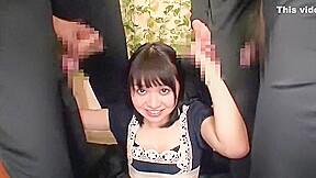 Hottest Japanese whore Nozomi Aiuchi in Incredible Gangbang JAV video