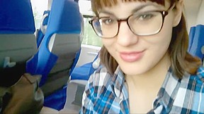 Public Blowjob Swallow On Train