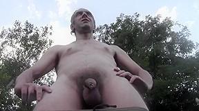 Cum explosion outdoor in public garden amateur nude...