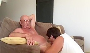 Wife giving husband a blow...