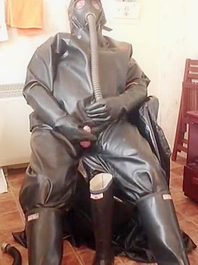 Black rubber wank...