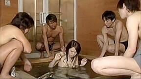 Slut in incredible bathroom lesbian jav movie...