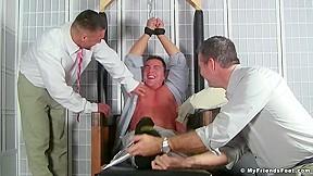 Branden Charron Brad Barnes Cameron Kincaid in Braden, Brad and Cameron after party tickle time for fun - MyFriendsFeet