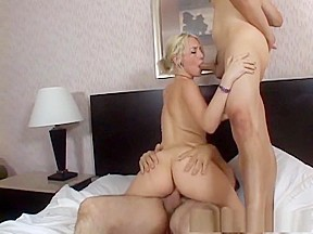 Amazing incredible gangbang blonde adult scene...