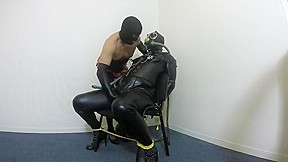 Gas mask playing crossdressers