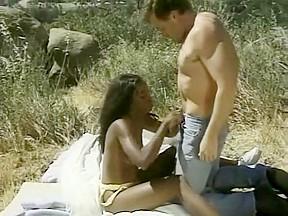 In exotic cunnilingus movie...