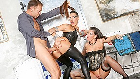 Mea melone athina in anal threesome gaping girl...