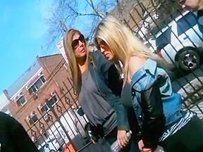 Blonde in flip flops...