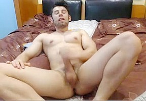 Beautiful athletic romanian boy cums ass on doggy...