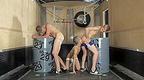 Perverted twinks in a threesome scene...