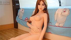 Realistic brunette black petite sex dolls...