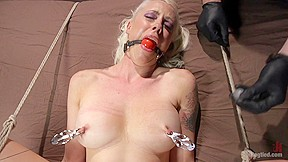 In submits grueling torment hogtied...