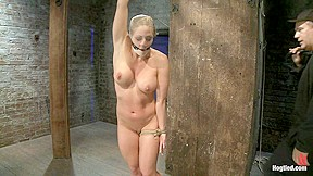 Very intense sm scene with hot blond pushed...