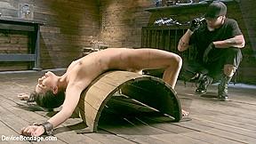 In petite submissive slut gets punished bondage devicebondage...