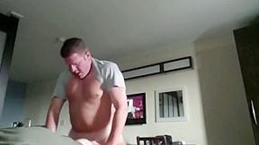 Straight dad bottom in motel room hidden cam...