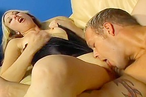 Couple dominate and peg boy...