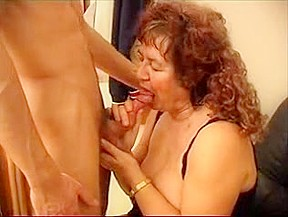 Wonderful granny july jerk off a young boy...