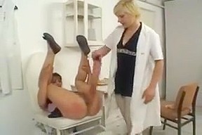 Spanked and wanked at the doctor surgery...
