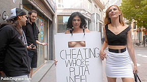 Cheating wifes big hot ass shamed fully public...