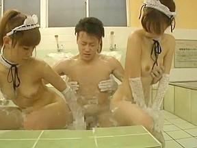 Amazing hiyoko morinaga yuna hoshi miu tamura handjob...
