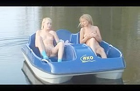 Two blond teens...