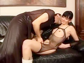 Pervy retro porn with bitches wearing latex