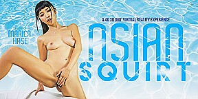 Marica hase in asian squirt vrbangers...