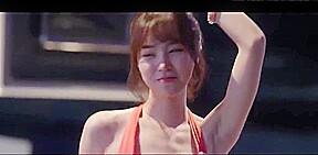 Jin se yeon shaking it bikini...