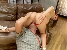 Sara stone gets tits licked and hairy pussy...
