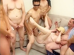 Glasses puggy body gangbanged raw...