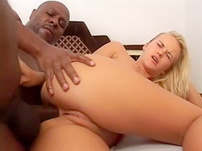 Pretty blonde babe black cock down deep...
