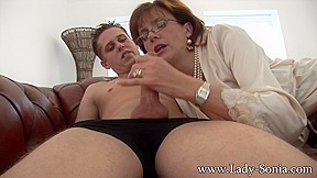 Lady Sonia Gives Young Worker Blowjob Facial Cumshot Ladysonia