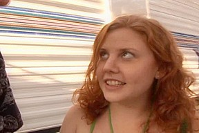 Runaway Redhead Legal Age Teenager Cherry Acquires Her Unshaved Bush Drilled