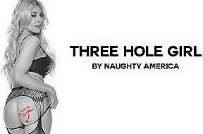 Three hole girl featuring kayla kayden naughtyamericavr...