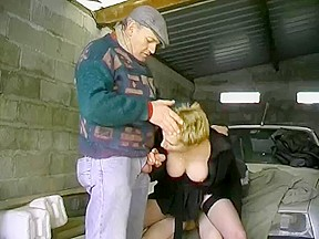 bushy blond and two guys