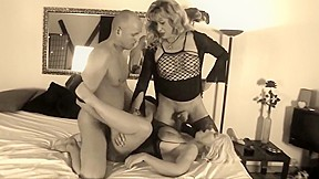 German couple share mature tranny recolored...
