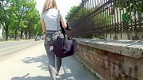 Hot college girl In Tight Jeans 10.05.2018