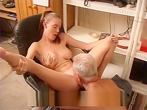 Teen has to FUCK her OLD BOSS