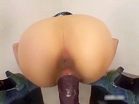 Quivers as she cums on huge dildo cumshots...