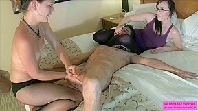Stephani just desires to bust balls - Milking on fishnets