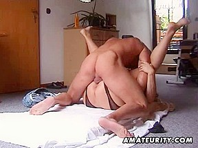 Bulky and breasty non-professional Mother I'd Like To Fuck copulates with cook jerking
