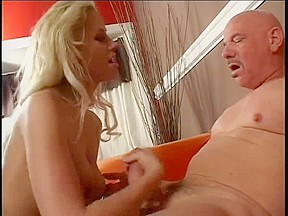 Sexy Golden-Haired Jerking and Smokin'