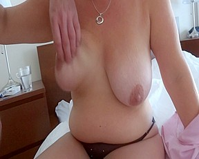 Large Breasted Wife Giving Hand Job